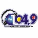Logo da emissora Rádio Lavínia 104.9 FM