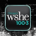 Logo da emissora Radio WSHE 100.3 FM