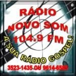 Logo da emissora Rádio Novo Som Gospel 104.9 FM