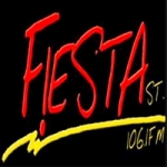 Logo da emissora Radio Fiesta Buga 106.1 FM