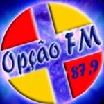 Logo da emissora R�dio Op��o 87.9 FM