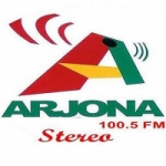 Logo da emissora Radio Arjona Stereo 100.5 FM