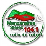 Logo da emissora Radio Manzanares Stereo 104.1 FM