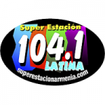 Logo da emissora Super Estación Latina 104.1 FM