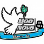 Logo da emissora Rádio Boa Nova 98.7 FM