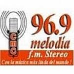 Logo da emissora Radio Melodía Stereo 96.9 FM