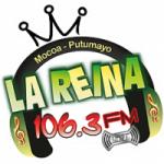 Logo da emissora Radio La Reina 106.3 FM