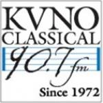 Logo da emissora KVNO 90.7 FM
