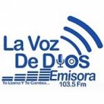 Logo da emissora Radio La Voz de Dios 103.5 FM