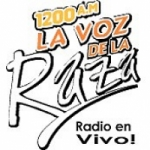 Logo da emissora Radio La Voz de la Raza 1200 AM
