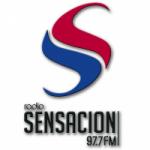 Logo da emissora Radio Sensacion 97.7 FM