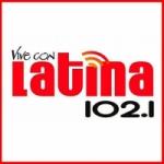Logo da emissora Radio Latina 102.1 FM