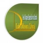 Logo da emissora Rádio Difusora Litoral