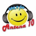 Logo da emissora Rádio Antena 10