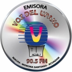Logo da emissora Radio Voz del Upano 90.5 FM