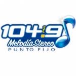 Logo da emissora Radio Melodía Stereo 104.9 FM