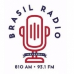 Logo da emissora Brasil Radio 810 AM 93.1 FM
