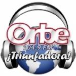 Logo da emissora Radio Orbe Triunfadora 104.9 FM