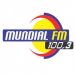 Logo da emissora Rádio Mundial 100.3 FM Toledo