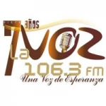 Logo da emissora Radio La Voz 106.3 FM