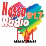 Logo da emissora Nossa Rádio 91.7 FM