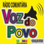 Logo da emissora Rádio a Voz do Povo 104.9 FM