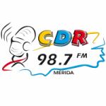 Logo da emissora Radio CDR 98.7 FM