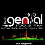 Logo da emissora Radio Genial 100.5 FM