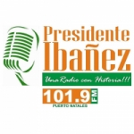 Logo da emissora Radio Presidente Ibañez 101.9 FM