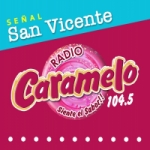 Logo da emissora Radio Caramelo 104.5 FM
