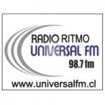 Logo da emissora Radio Ritmo Universal 98.7 FM