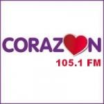 Logo da emissora Radio Corazón 105.1 FM