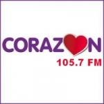 Logo da emissora Radio Corazón 105.7 FM