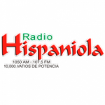 Logo da emissora Radio Hispaniola 1050 AM 107.5 FM