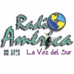 Logo da emissora Radio América 1350 AM 97.5 FM