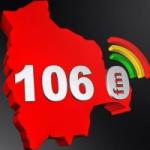 Logo da emissora Radio Boliviana 106.0 FM