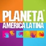 Logo da emissora Rádio Planeta América Latina