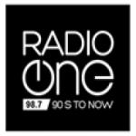 Logo da emissora Radio One 98.7 FM