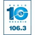 Logo da emissora Radio 10 106.3 FM