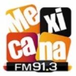 Logo da emissora Radio La Mexicana 91.3 FM