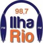 Logo da emissora Rádio Ilha Rio 98.7 FM