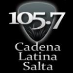 Logo da emissora Radio Cadena Latina 105.7 FM