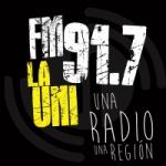 Logo da emissora Radio La Uni 91.7 FM