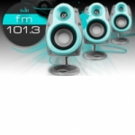Logo da emissora Radio Equis 101.3 FM