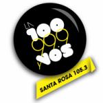 Logo da emissora Radio La 100 105.3 FM
