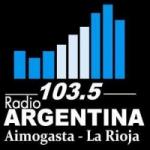 Logo da emissora Radio Argentina 103.5 FM