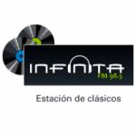 Logo da emissora Radio Infinita 98.5 FM