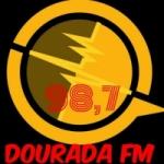 Logo da emissora Rádio Dourada 98.7 FM