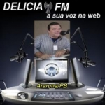 Logo da emissora Delícia FM