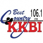 Logo da emissora Radio KKBI 106.1 FM